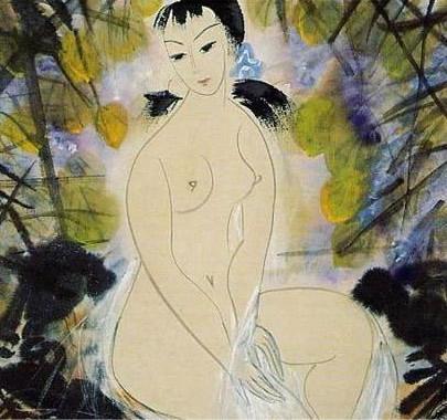 林风眠仕女,人物画作品 - 大众艺术网